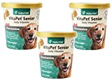 180-Count NaturVet VitaPet Senior Daily Vitamins Plus Glucosamine Soft Chews for Dogs (3 Packages with 60 Chews Each)