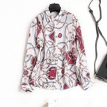 Mayihang Blusa Camisa Morera Seda abrigo Manga Larga primavera la vestimenta femenina,de seda y