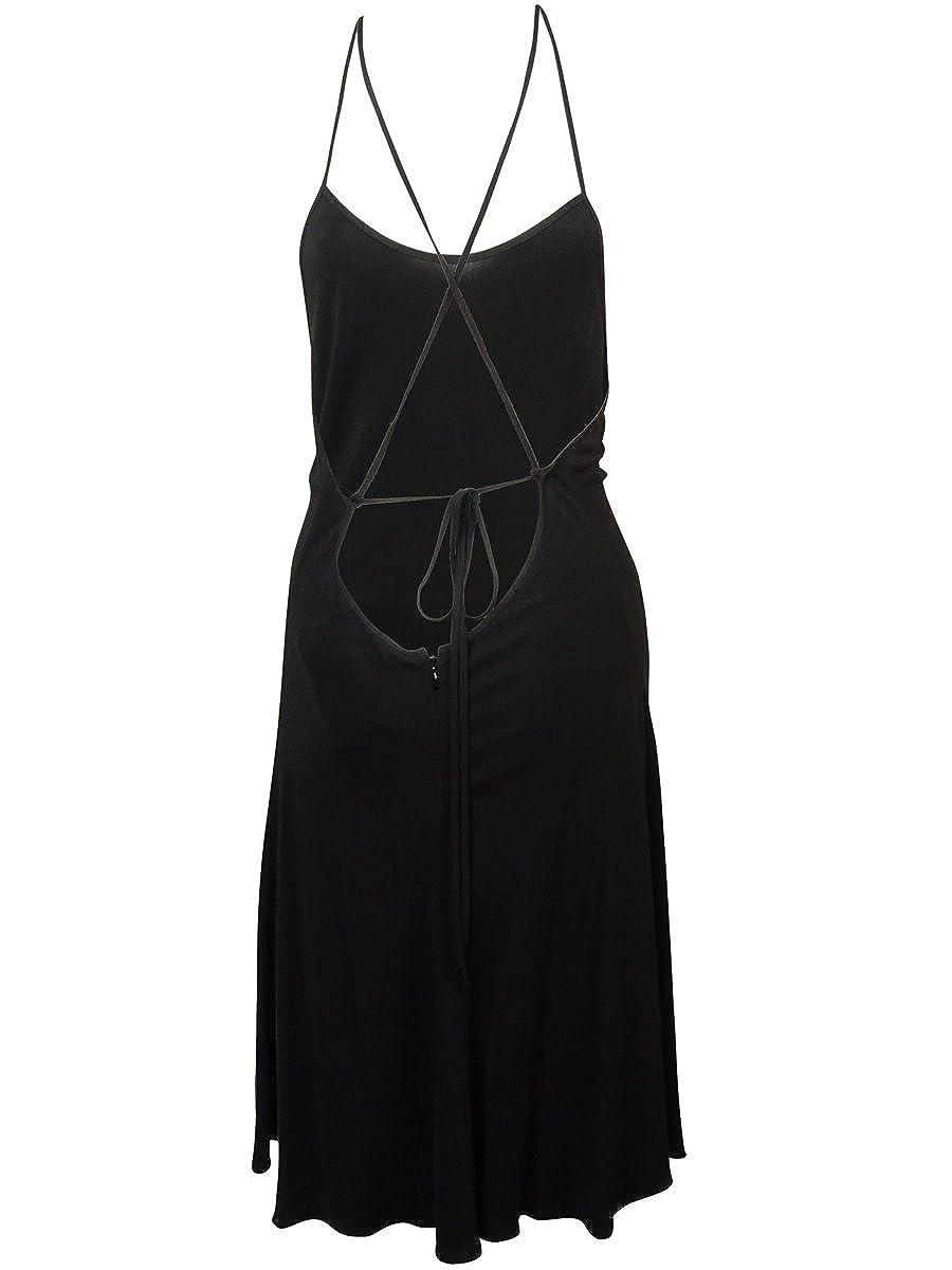 Polo Ralph Lauren Womens Crisscross Spaghetti Jersey Dress 8, Black