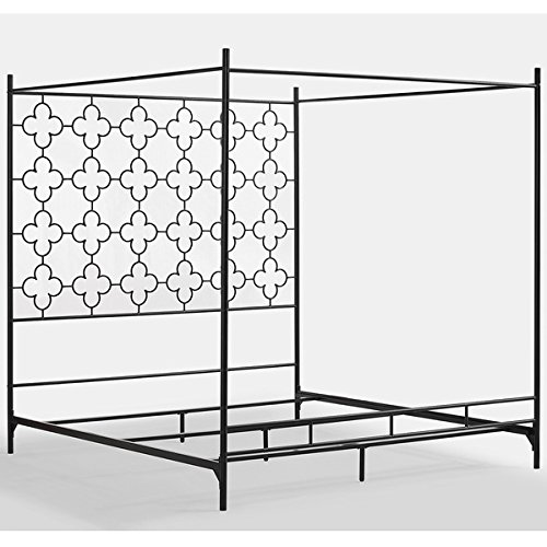 Metal canopy bed frame full sized adult kids princess - Canopy bed ideas for adults ...