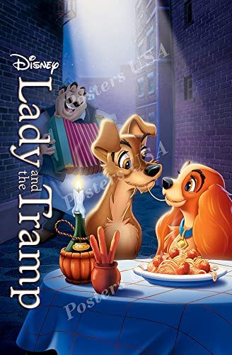 Amazon Com Poster Usa Disney Classics Lady And The Tramp Poster Glossy Finish Disn078 24 X 36 61cm X 91 5cm Posters Prints