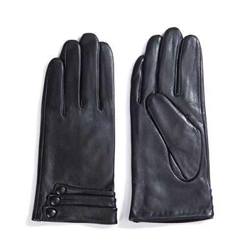 MATSU Fashion Women Winter Warm Touchscreen Texting Driving Leather Gloves 5 Colors(Long Fleece/Cashmere lining)