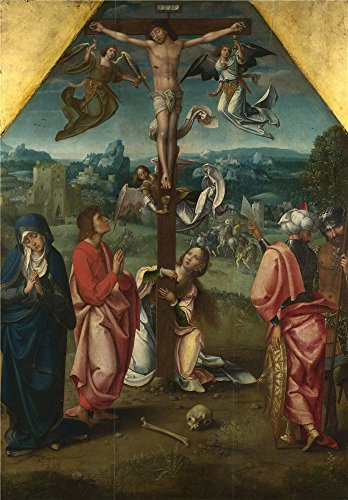 'Workshop Of The Master Of 1518 The Crucifixion ' Oil Painting, 12 X 17 Inch / 30 X 44 Cm ,printed On Polyster Canvas ,this Replica Art DecorativePrints On Canvas Is Perfectly Suitalbe For Bar Gallery Art And Home Decoration And Gifts
