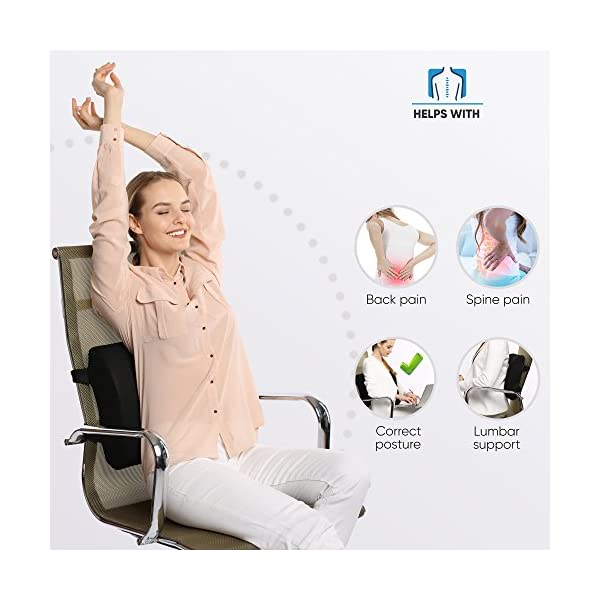 Everlasting-Comfort-100-Pure-Memory-Foam-Back-Cushion-Orthopedic-Design-for-Lower-Back-Pain-Relief-Lumbar-Support-Pillow-2-Adjustable-Straps-For-Car-or-Office-Chair