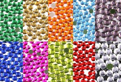 New ThreadNanny 14440-3mm 10ss Hot Fix Rhinestone Crystals - All 10 Colors by ThreadNanny