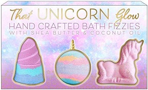 3 pack molded bath bombs- 225 Grams (Unicorn)