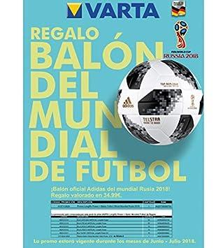 Varta Promo Balon Mundial De Futbol 9137112829: Amazon.es: Electrónica