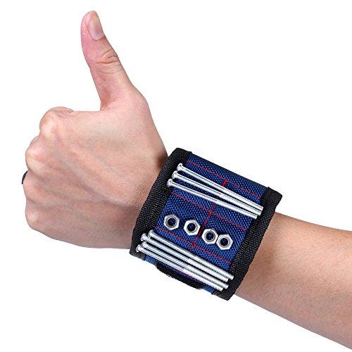 ELENKER Magnetarmband für metallische Schrauben Nägel Bolzen usw. Blau 29x8cm