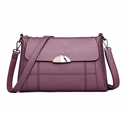 Handbag Shoulder Bag Bag Small Hobo Leather Women Women Alovhad Crossbody Satchel Purse Purple XOq1UUa