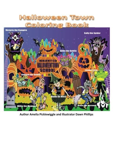Halloween Town Coloring Book (Volume 1)