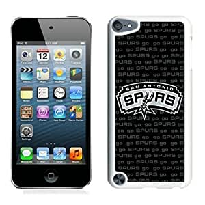 New Custom Design Cover Case For iPod Touch 5th Generation san antonio spurs 4 White Phone Case