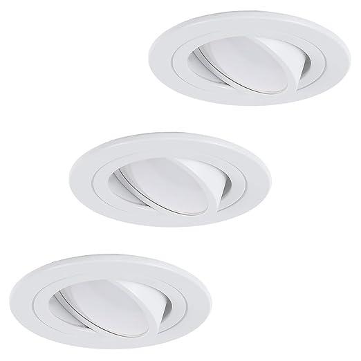 Techo de Juego | de 3 focos empotrables LED 5 W | techo foco orientable redondo