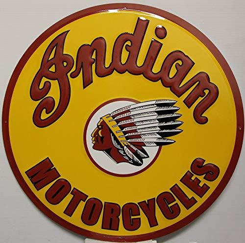 Indian Motorcycle Metal Sign Logo Large