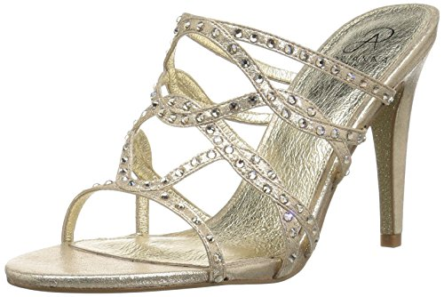 Adrianna Papell Women's Emma Heeled Sandal, Gold Sterling Metallic, 5.5 M US