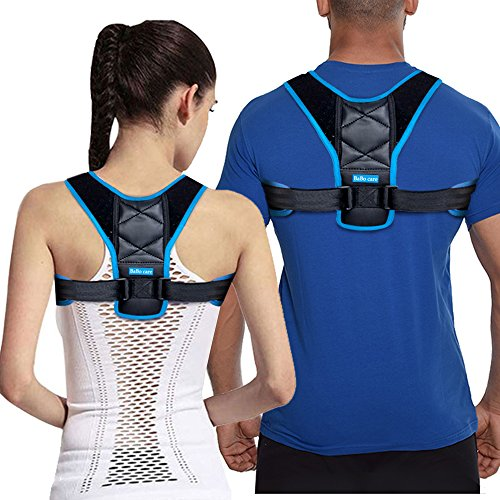Back Posture Corrector Clavicle Support Brace for Men & Women by BABO Care, Figure 8 Shaped Designed, Helps to Improve Posture, Prevent Slouching and Back Pain Relief (LGE) by Babo Care