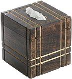 tiki tissue dispenser - Tissue Box Cover - Simple & Sober SouvNear Upright Square Wood Tissue Box Cover / Dispenser for Facial Tissues