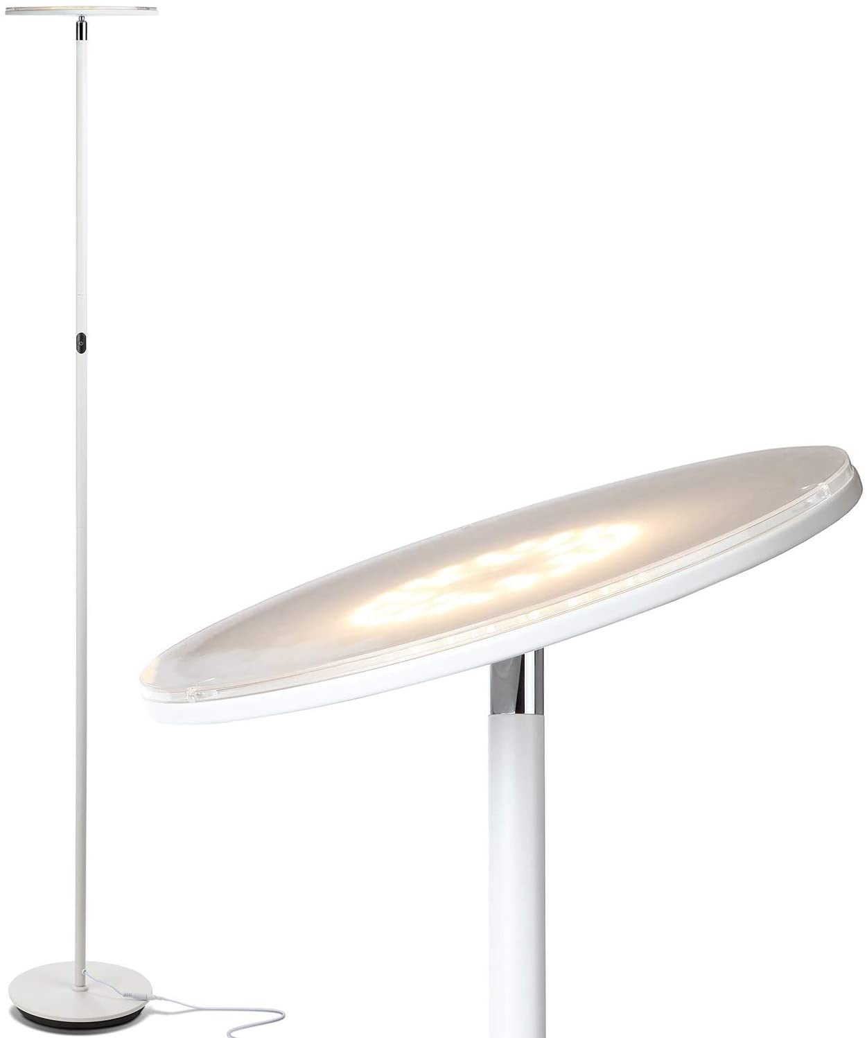 Brightech Sky LED Torchiere Floor Lamp - Energy Saving, Dimmable