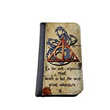 Harry Potter inspired Deathly Hallows iPhone 6 plus / iPhone 6s plus faux PU Leather Wallet Case By caseOrama