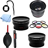 SAVEoN Gopro Lens Adapter with Fisheye & Color Ultimate Lens Kit Fits Hero Hd 4