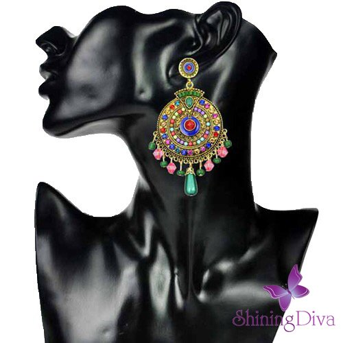 Shining Diva Fashion Jewellery Fancy Party Wear Earrings (Multicolor)