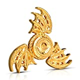 Toys : Wiitin Fidget Spinner Toy, Tri Hand Spinner Low Noise High Speed Focus Toy with Stainless Steel Bearing(Golden Phoenix)