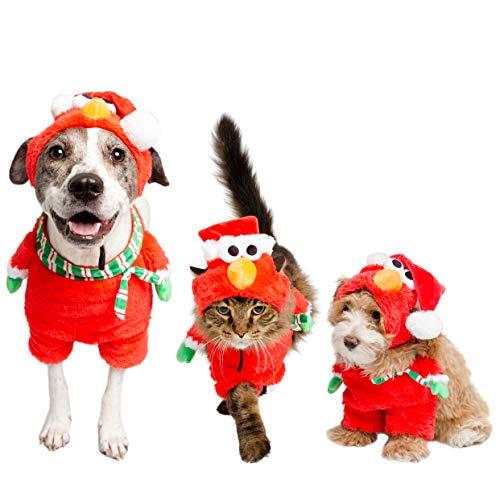 Pet Krewe PK00401XL Sesame Street Santa Elmo Walking Dog Costume, -