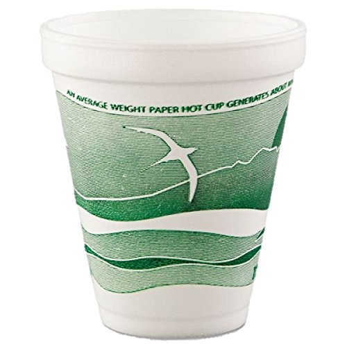 Dart Mfg Dart Forest Green Foam Printed Hot Cup Horizon 12oz. 12J16H - 1000/Case