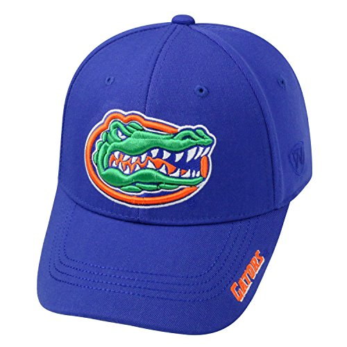 Florida Gator Football Bowl (Top of the World NCAA-Premium Collection-One-Fit-Memory Fit-Hat Cap-Florida Gators)