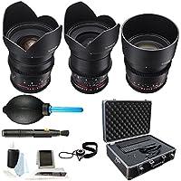 Rokinon T1.5 Cine DS 3-Lens Kit for MFT: 24mm (DS24M-MFT) + 35mm (DS35M-MFT) + 85mm (DS85M-MFT) & Care Kit