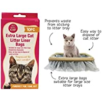 10 x Cat Kitty Litter Liners Bags Liner White Extra Large 50 x 90cm