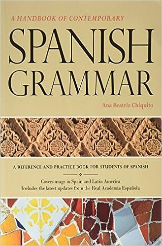Amazon handbook of contemporary spanish grammar student edition handbook of contemporary spanish grammar student edition w supersite code spanish fandeluxe Images