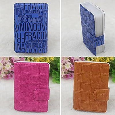 Cartes Accessoires carte de crédit sac de carte de support avec 20 emplacements pour cartes tan Blancho Bedding