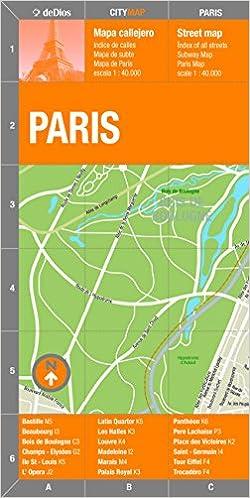 Paris (City Center) Map by deDios (City Map) (Spanish