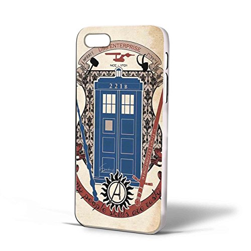 Lord of the Rings Doctor Who Harry Potter for Iphone Case (iPhone 5/5s White)