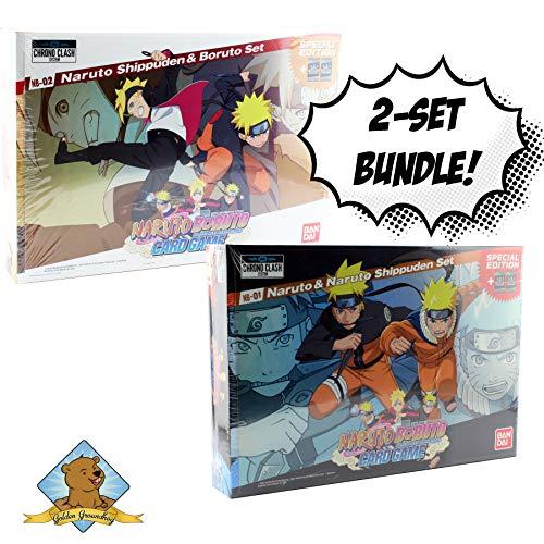 Naruto Boruto - Naruto and Naruto Shippuden - Naruto Shippuden and Boruto Card Game Box Set Bundle Sold by Golden Groundhog