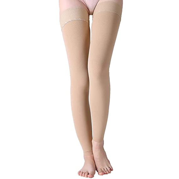 8c06d67672511f Image Unavailable. Image not available for. Color: 23-32mmhg Compression  Thigh High Graduated Support Prevent Varicose Veins Socks Stockings ...