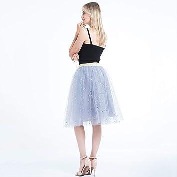 QYYDBSQ Verano Mujer Estrella Glitter Dance Tutu Falda para Dama ...
