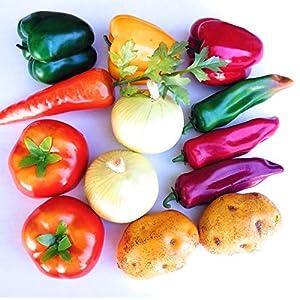 Mezly 12pcs Set Artificial Vegetables Silation Vegetables Decoration Kitchen Home Decor Realistic Fake Vegetables Decor Set Photo Props 51