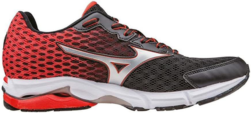 zapatillas mizuno wave rider 18 chinese red/silver/black 2015