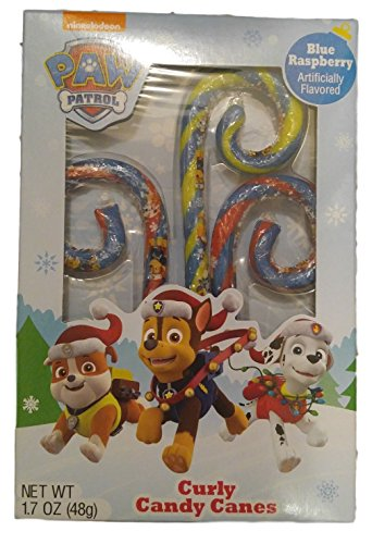- Paw Patrol Blue Raspberry Curly Candy Canes