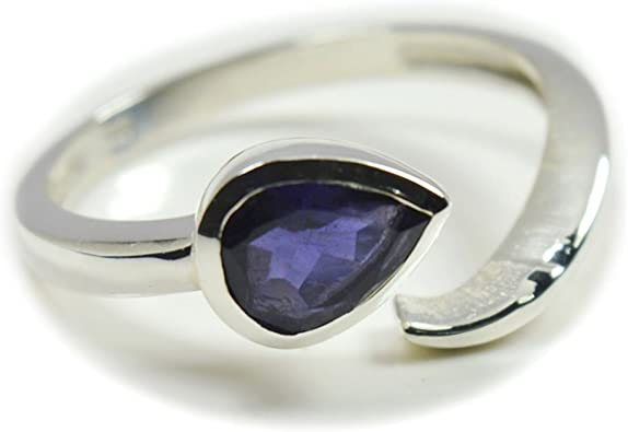 Jewelryonclick Real Iolite Sterling Silver For Women Oval Split Shank Style In Size 4,5,6,7,8,9,10,11,12