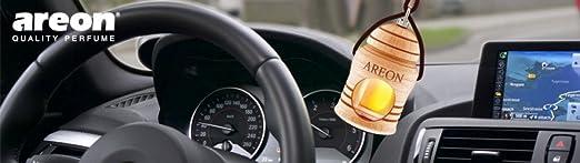 Areon Fresco Auto Parfüm Sport Lux Platin Autoduft Hängend Flasche Glas Duftflakon Parfüm Flakon Holz Lufterfrischer Aufhängen Anhänger Spiegel Schwarz 4ml 3d Pack X 1 Platinum Auto
