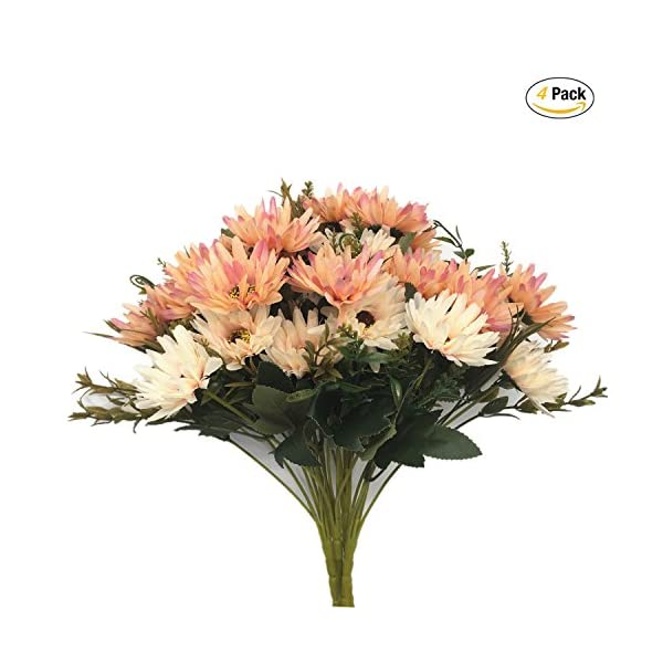 CATTREE-Artificial-Flowers-Flocked-Plastic-Flower-Bundle-Fake-Plants-Wedding-Bridle-Bouquet-Indoor-Outdoor-Home-Office-Table-Centerpieces-Arrangements-Christmas-Decoration