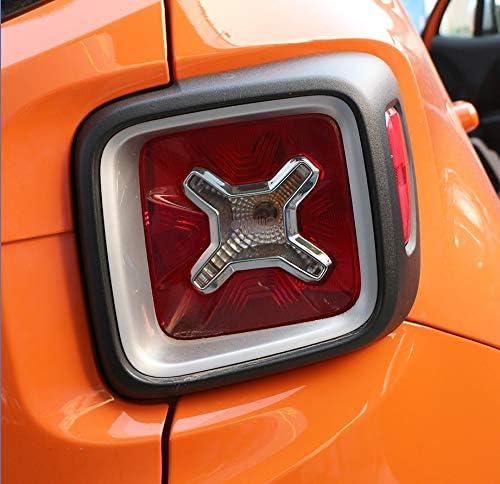 NO LOGO Auto-R/ückleuchten Abdeckung zur/ück Lampen Trim Aufkleber Fit for Jeep Renegade 2014 2015 2016 2017 2018 2019 Zubeh/ör