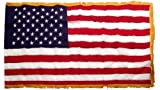 American 3ft x 5ft Nylon Flag with Indoor Pole Hem and Fringe – Made By Valley Forge Review