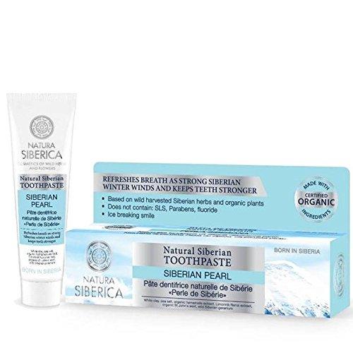 NATURA SIBERICA - Siberian Perle Zahncreme - Für ein frisches und natürliche Zahnpflege - Basierend auf Harvestes sibirischer Wildkräutern - Fluoride frei - 100 ml Yumi Bio Shop