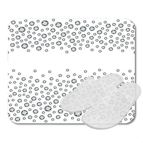 Bathroom Rugs for Bath Mat Band Alluvial Scattered Diamonds Gems Rhinestones White Array, Non Slip Bath Rug Velvet Foam Bathroom mat for Shower Floors 15.7X23.6Inch -