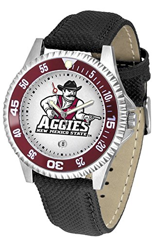 (New Mexico State Aggies NMSU NCAA Mens Leather Wrist Watch)