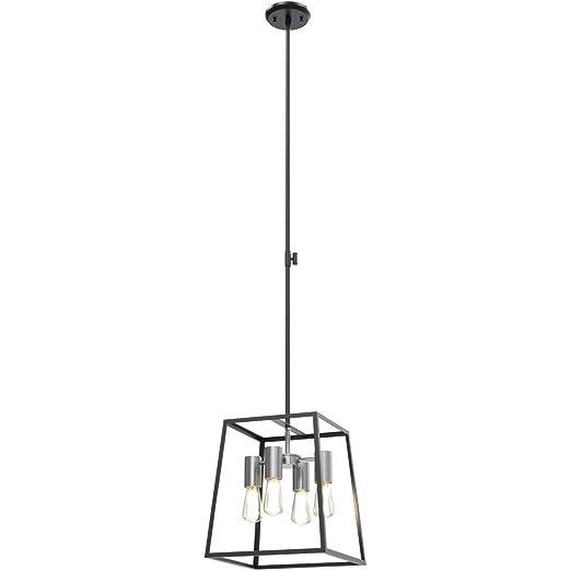 Amazon.com: Colgantes 4 luces con acabado de níquel pulido y ...