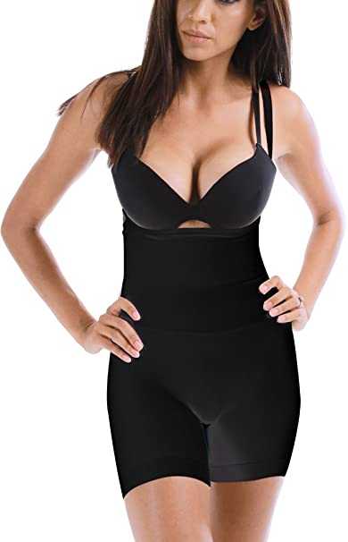 475939923293 Magic Curves Seamless Mid Thigh Bodysuit Slimming Full Body Shaper Shapewear  (6781) at Amazon Women's Clothing store: